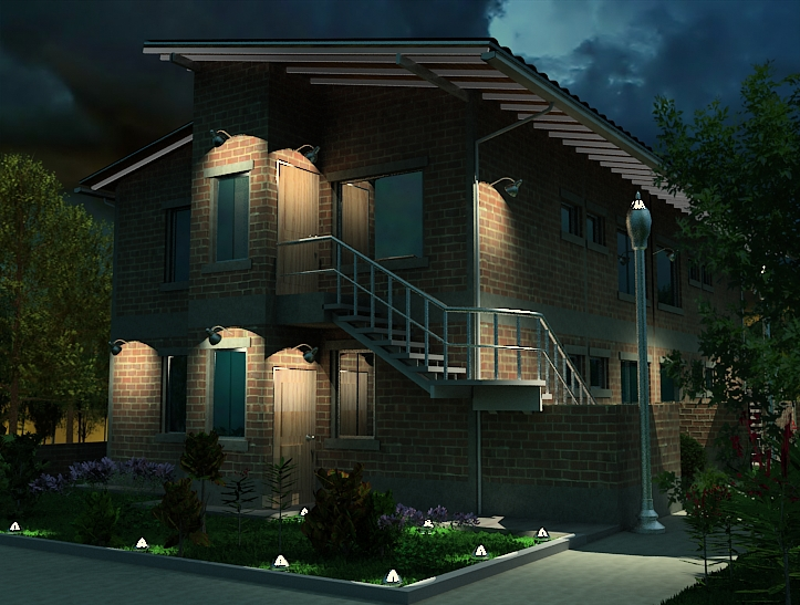 Lograr una iluminacion exterior realista en vray - Iluminacion de jardin exterior ...