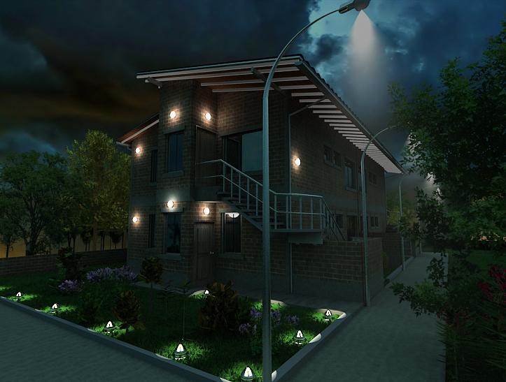 Lograr una iluminacion exterior realista en vray - Iluminacion exterior ...