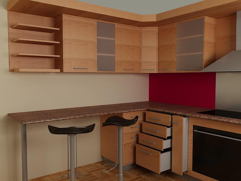 Cocina empotrada for Cocinas de cemento y ceramica