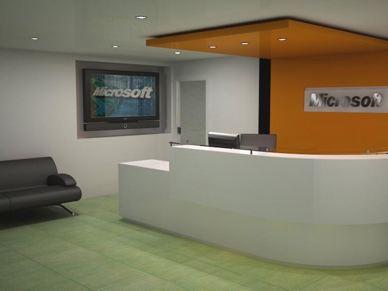 Recepcion oficina microsoft for Oficinas de microsoft