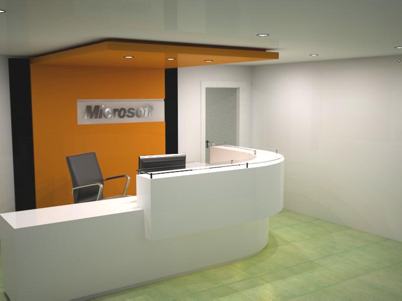 Recepcion oficina microsoft for Oficina de infiltrados temporada 3
