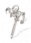 Dibujos rapidos , Bocetos  y apuntes  en papel -zombie-lapiz_by-herbiecans.jpg