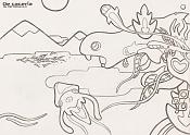 Dibujos rapidos , Bocetos  y apuntes  en papel -de_caceria_sketch_by-herbiecans.jpg