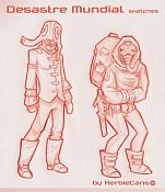 Dibujos rapidos , Bocetos  y apuntes  en papel -desastre_mundial_by-herbiecans.jpg