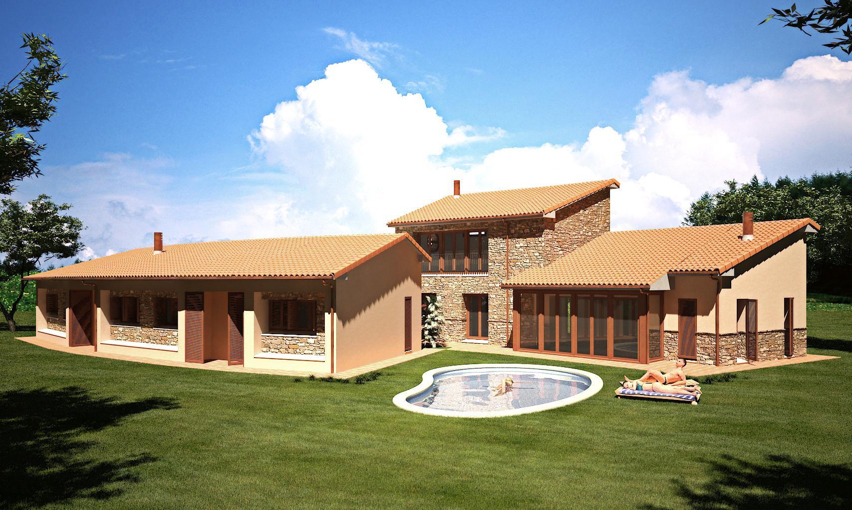 Casa rustica for Fachadas de casas modernas y rusticas
