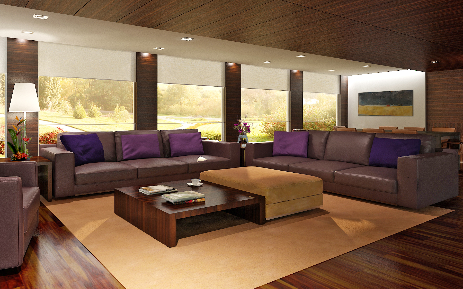 112265d1251469417 practica sala estar muestra estar Amazing Living Room Decoration With Purple Sofa Furniture