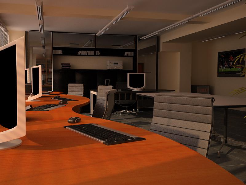 Render interior oficina for Interior oficina