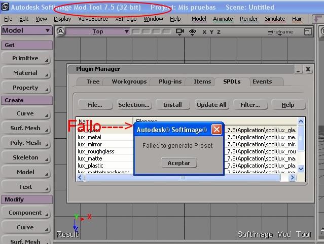 Tutoriales para Luxrender-1fallo_generate_presets.jpg