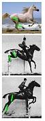 animacion 3D pero estilo lapiz-horses.jpg