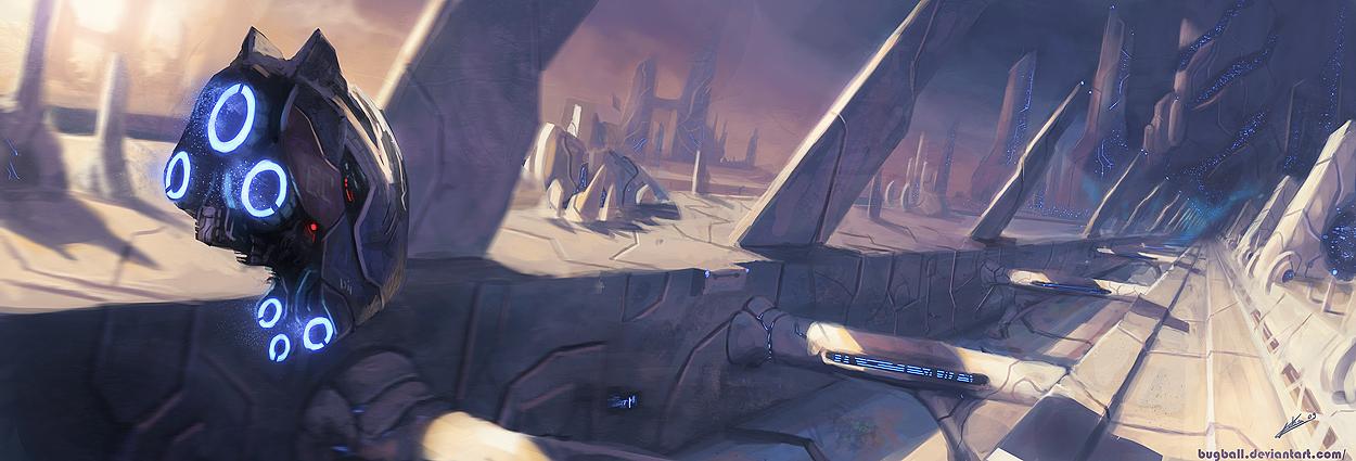 la bestia, y otros trabajos en ilustracion-spaceship_illustration_01_by_bugball.jpg