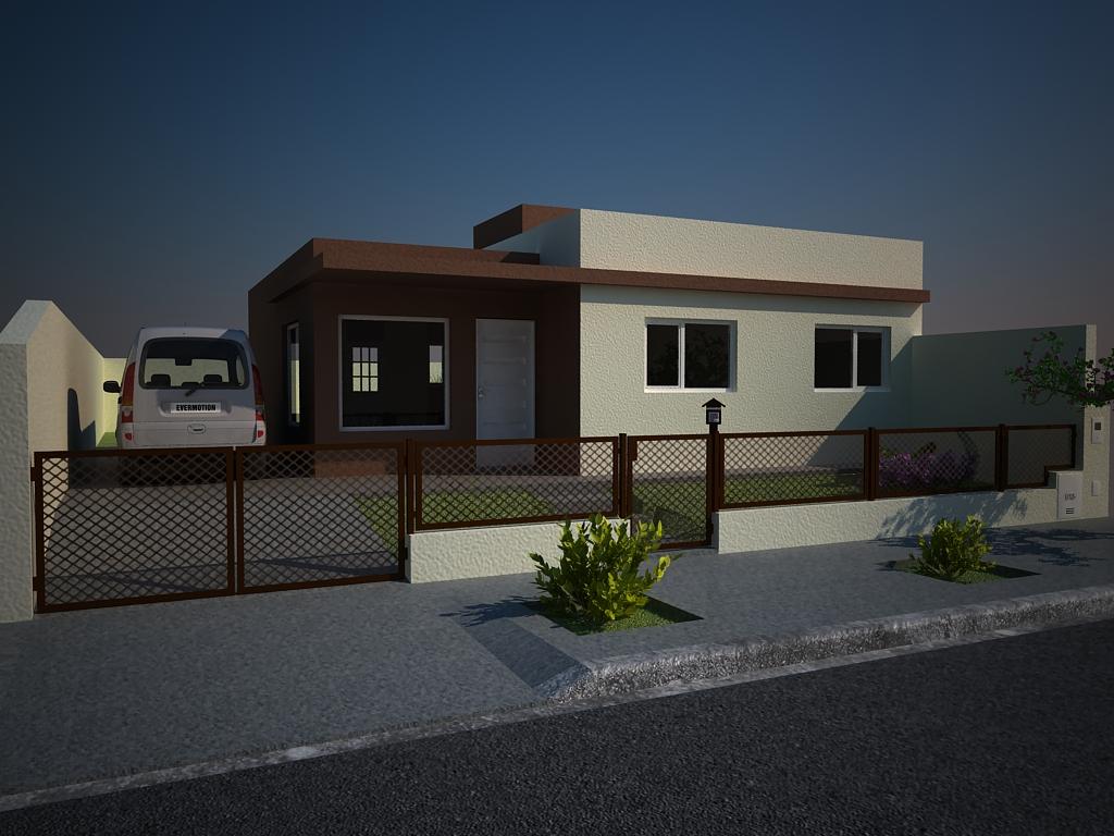 Proyecto casa 1 planta 3 fotos vray for Casas 1 planta
