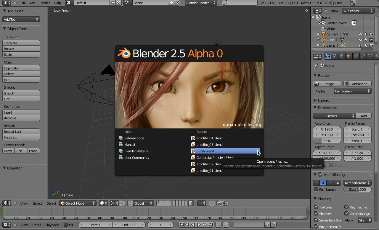 Blender 2 49  Release y avances -blender25_alpha_0.png
