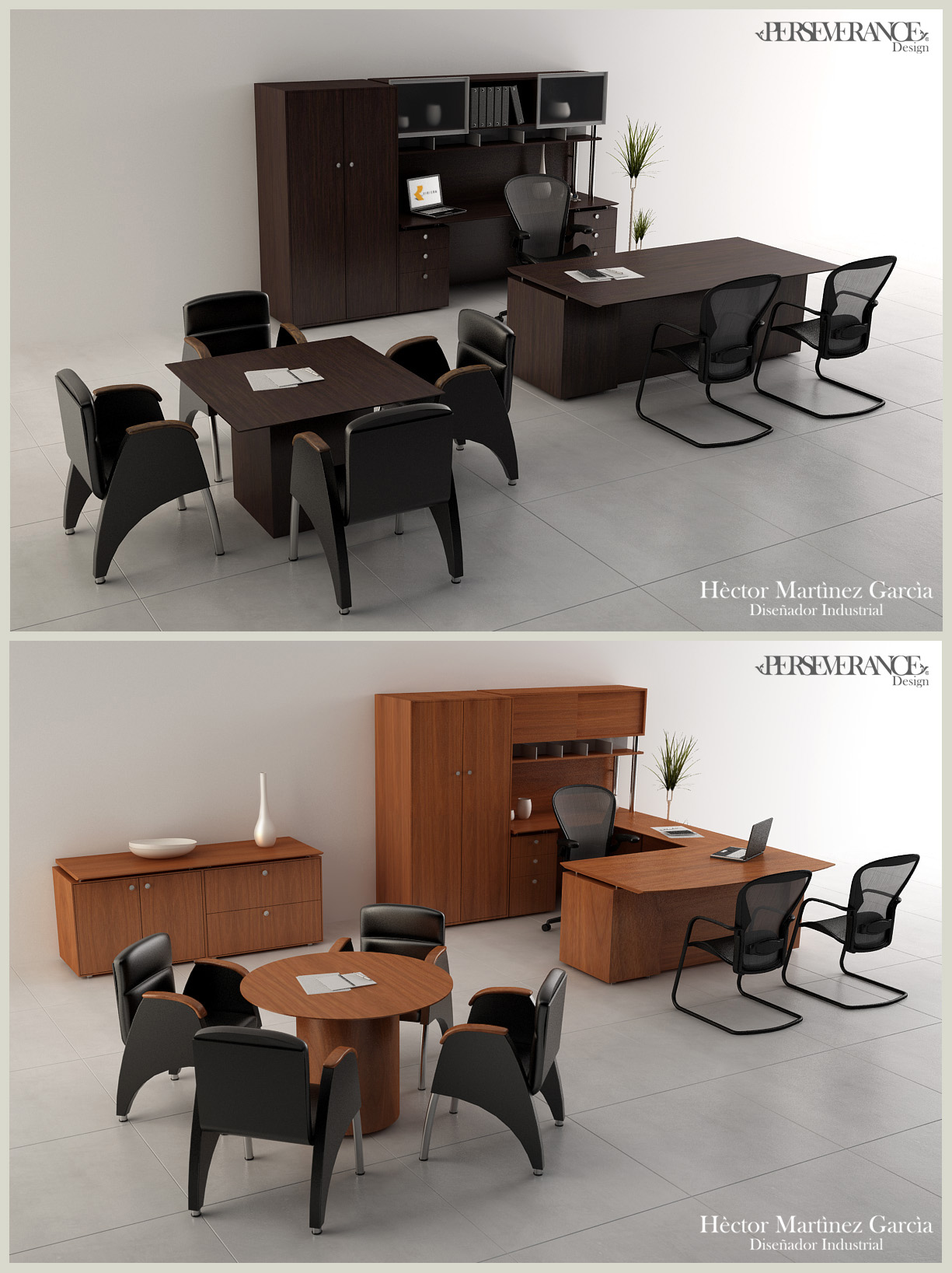 Muebles de oficina for Muebles de oficina 3d model