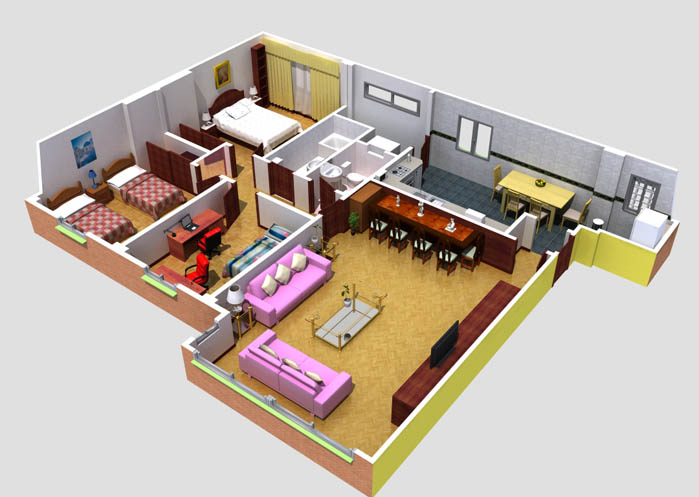 Mi casa seccion 3d for Crear planos 3d online