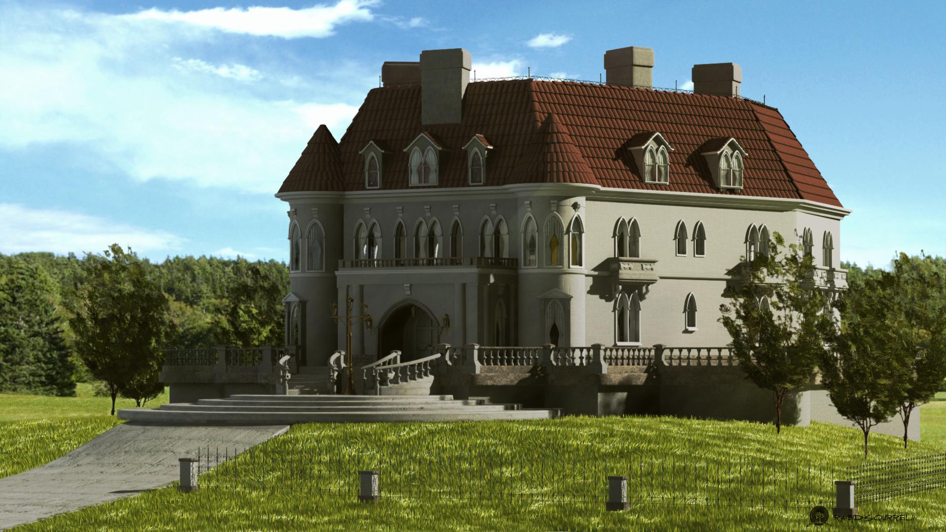 Mansion gotica for Casa revival gotica