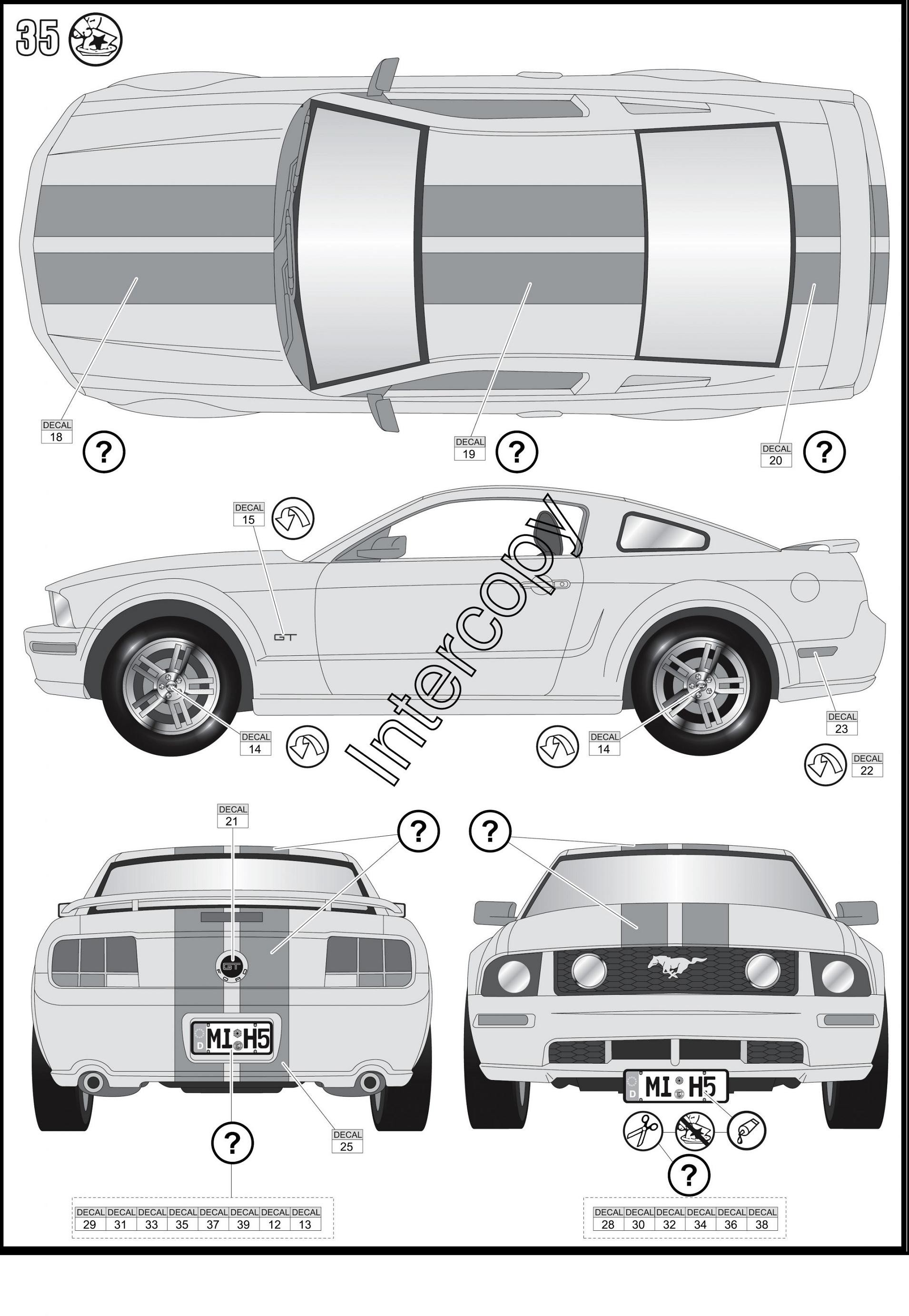 Blueprint ford mustang 2005