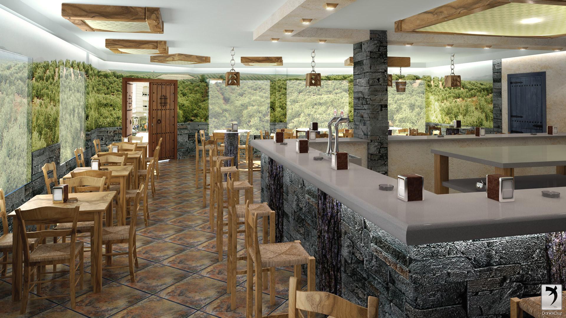 decoracion de interiores bares rusticos:Bar-Restaurante rustico-bar-alcala-vista-1-final.jpg