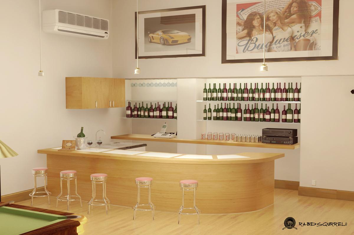 Salon de juegos billas bar dardos sala de tv - Tipos de estores para salon ...