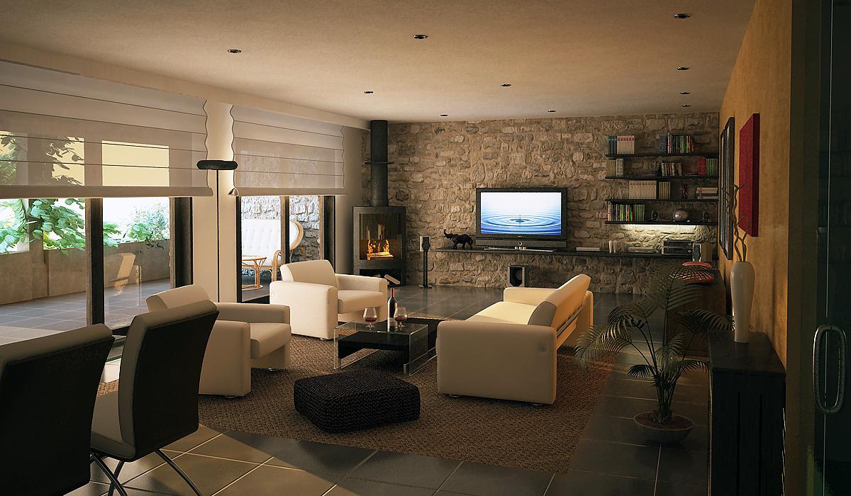 Ambiente casa rustica moderna en mallorca for Ideas de decoracion para casas