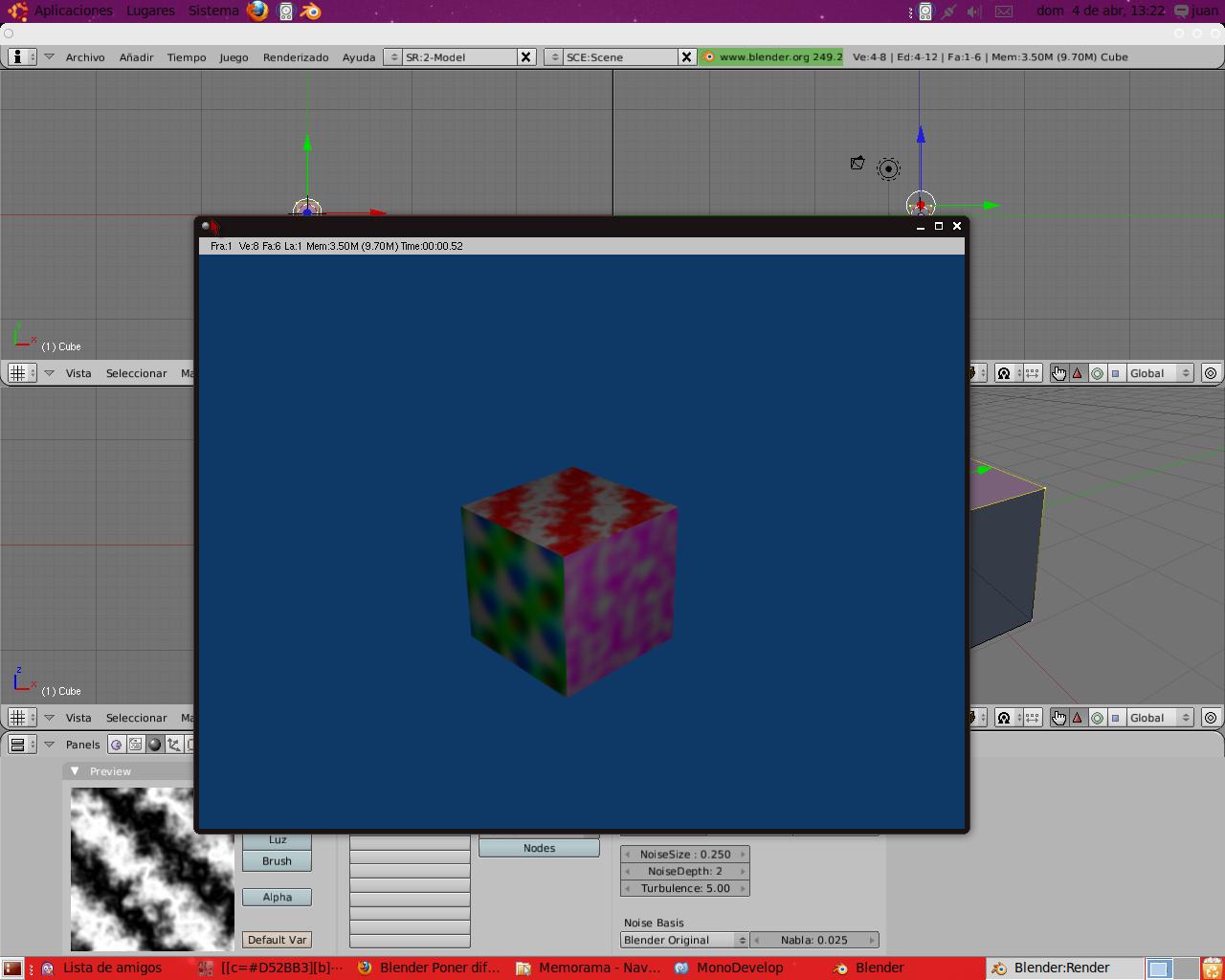 Poner un cubo
