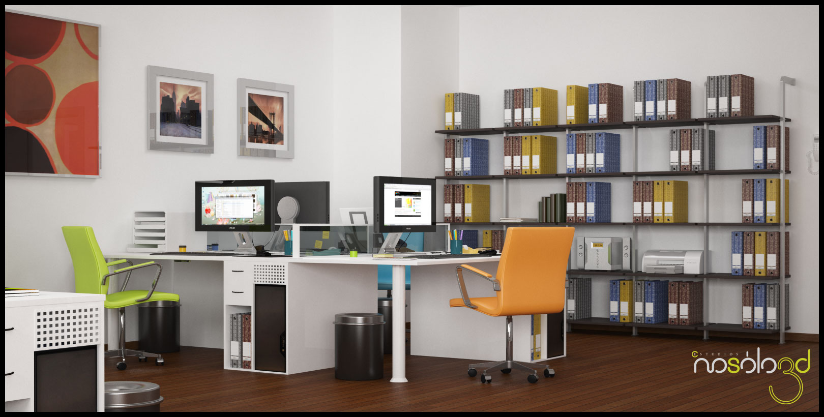 Oficina con cuatro ambientes for Unas para oficina