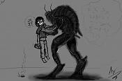 Cucaracha agarrando al dibujante - Probando la tableta digital-4cucaraxa-conmigomismo.jpg