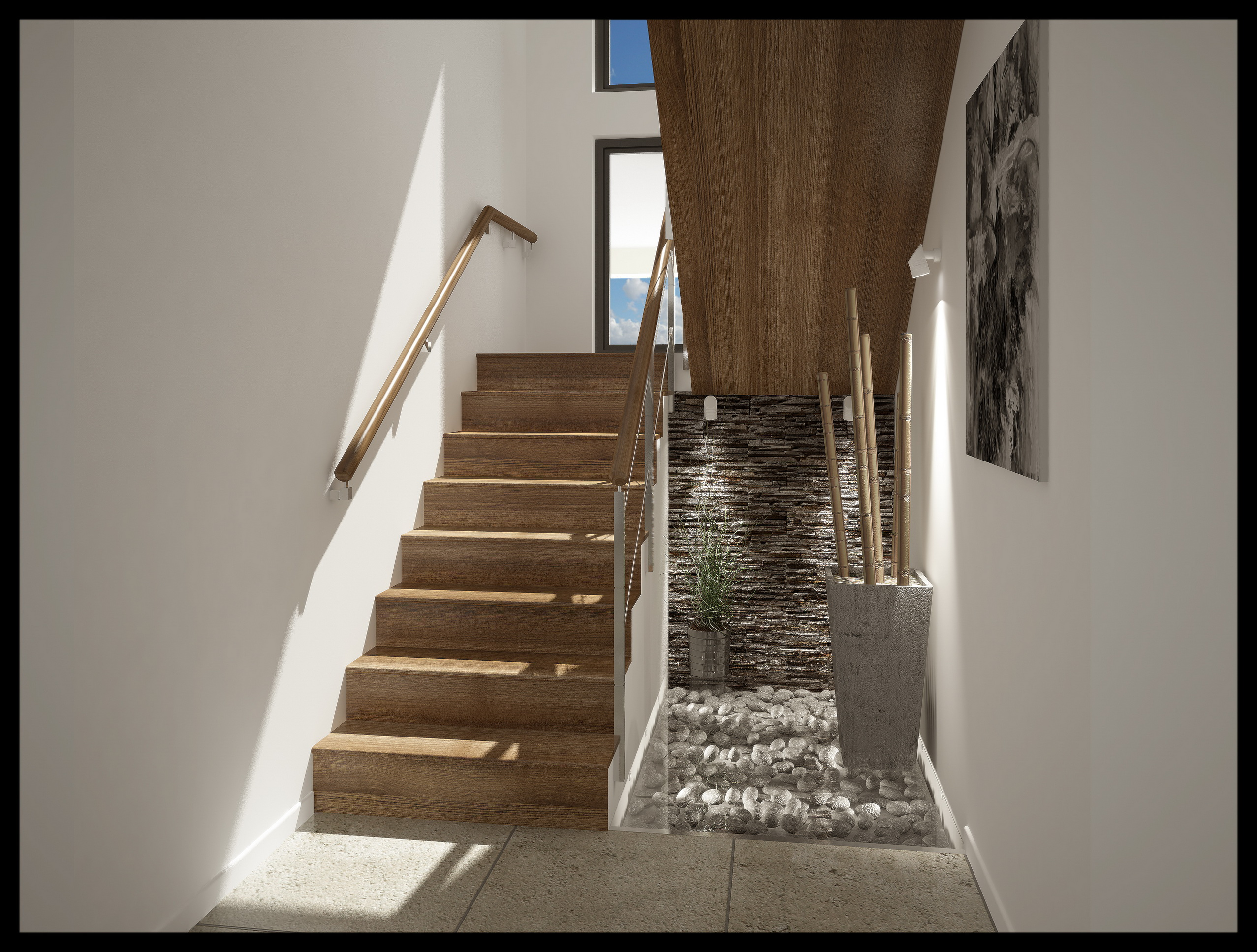 Bajo escalera for Escaleras 3d max