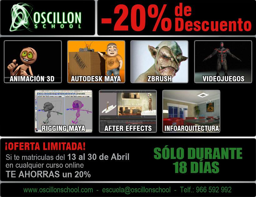 General promociones y descuentos en oscillon school for Edicion 3d online