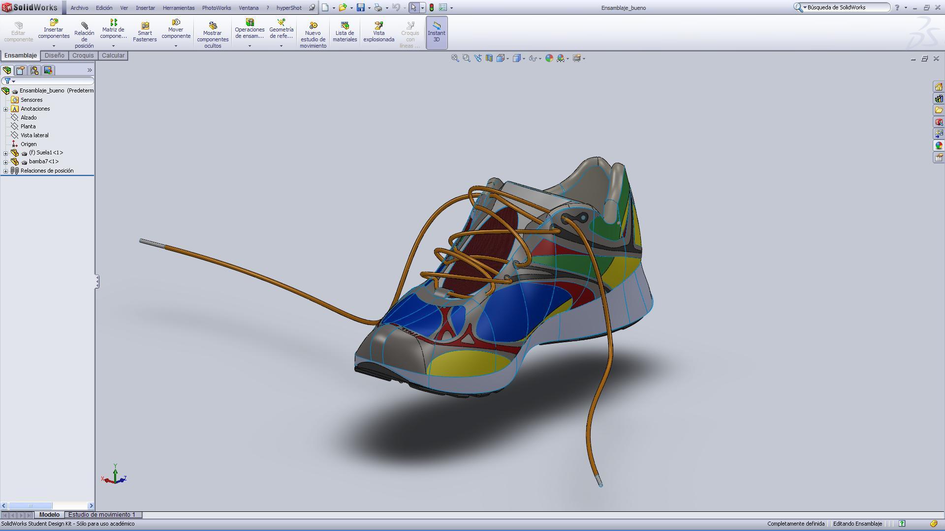 [General] Zapatilla de correr hecha en SolidWorks