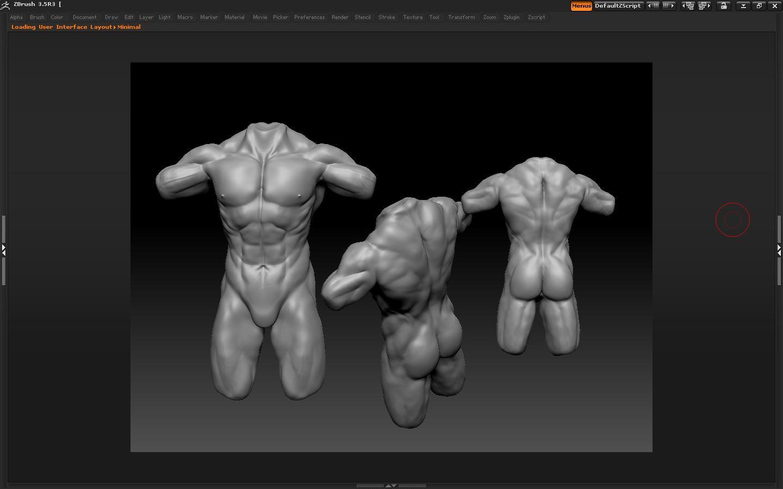 ZBrush] Opiniones de anatomía humana estudio de anatomía en Zbrush