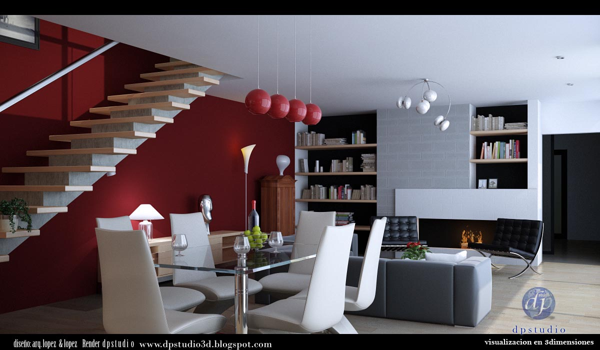 Casa minimalista for Casa minimalista roja