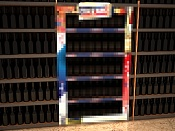 Problemas con botellas, etiquetas e iluminacion en gondolas de supermercado -botellas-negras-2.jpg