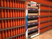 Problemas con botellas, etiquetas e iluminacion en gondolas de supermercado -botellas-negras-3.jpg