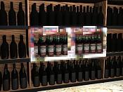 Problemas con botellas, etiquetas e iluminacion en gondolas de supermercado -botellas-negras.jpg
