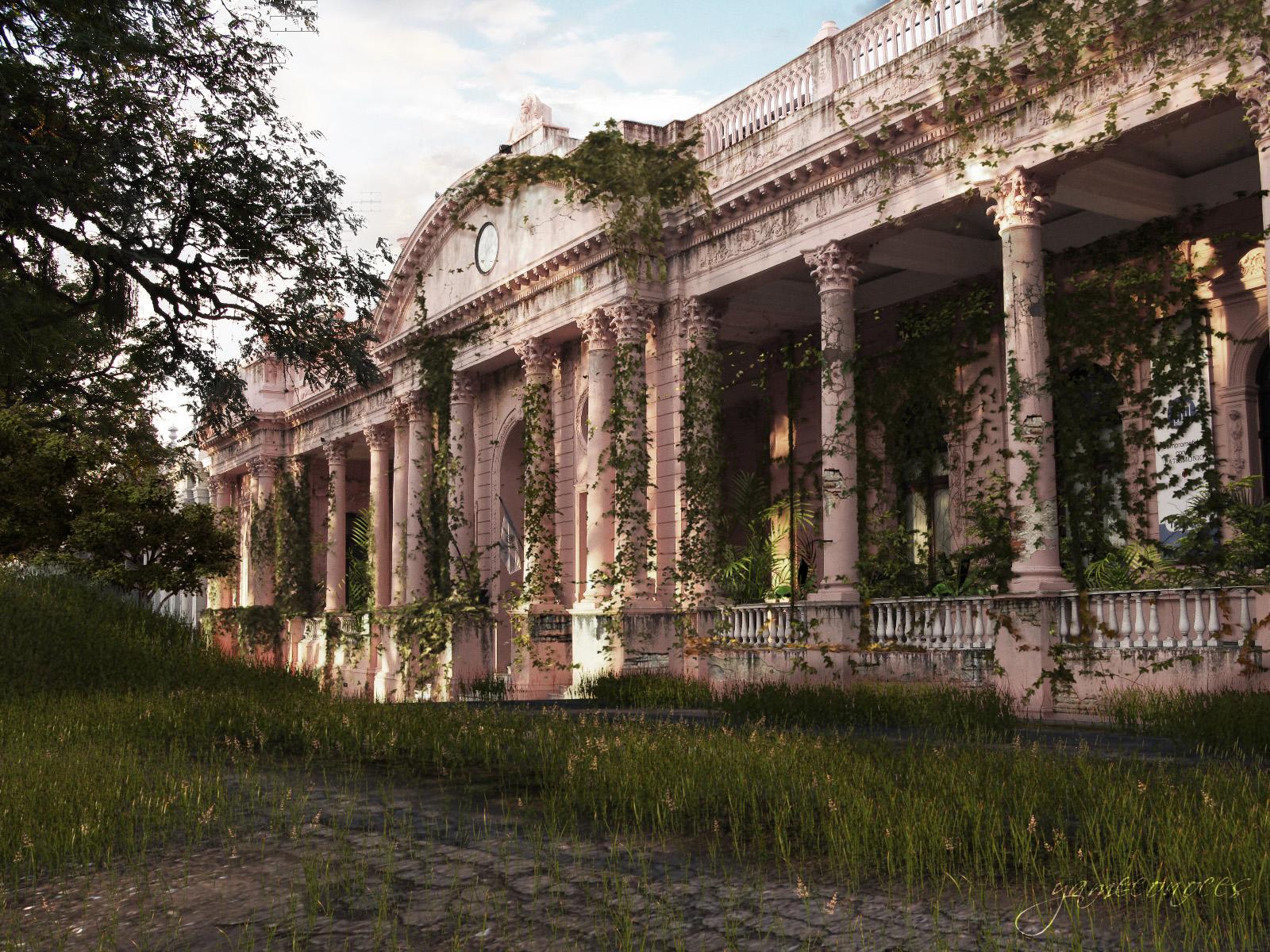 Integracion 3d con fotograf a casa de gobierno abandonada - Casa de fotografia ...