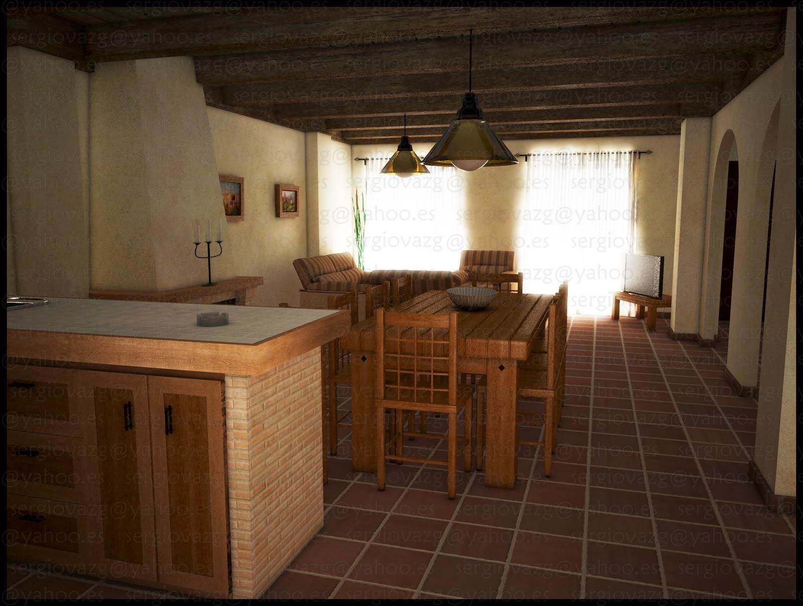 Interior casa rural for Casa rural piscina climatizada interior