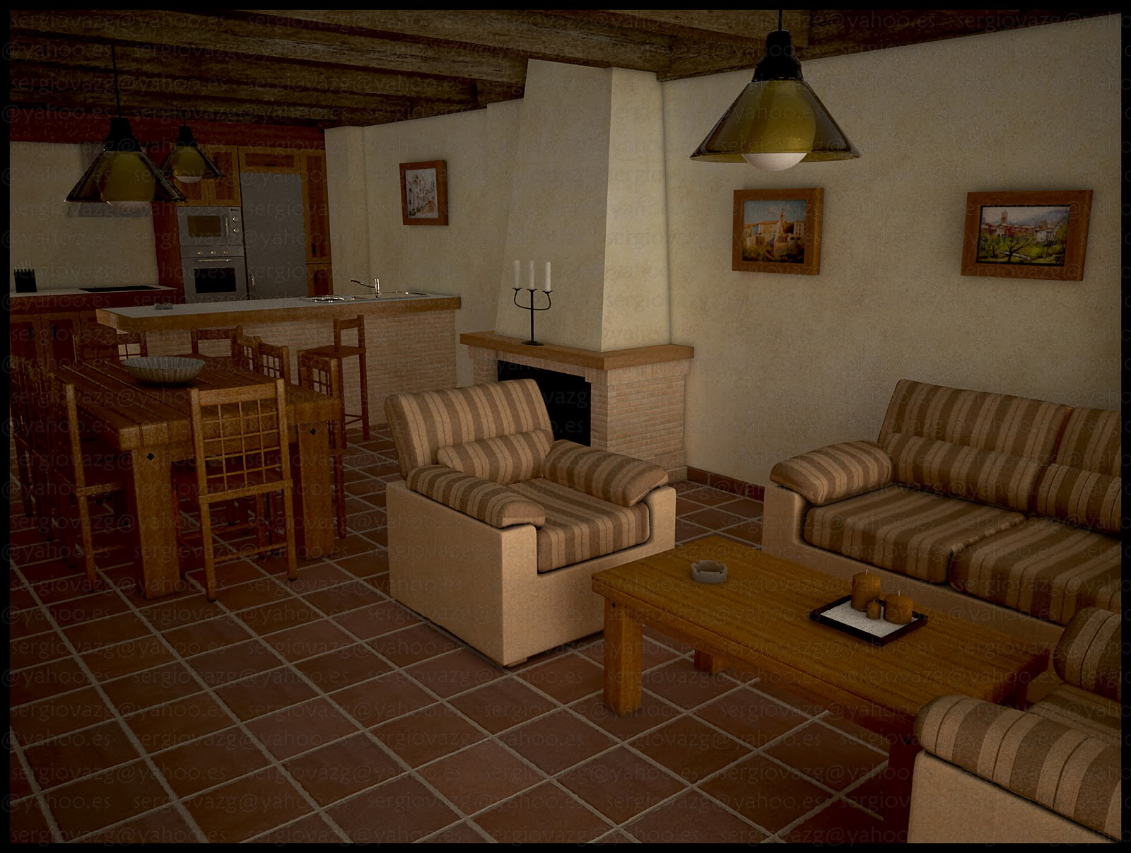 Interior casa rural for Casas de ensueno interiores