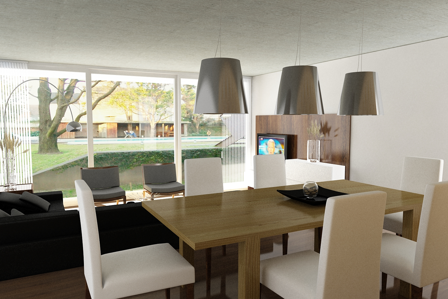 Living comedor for Como decorar un living comedor moderno