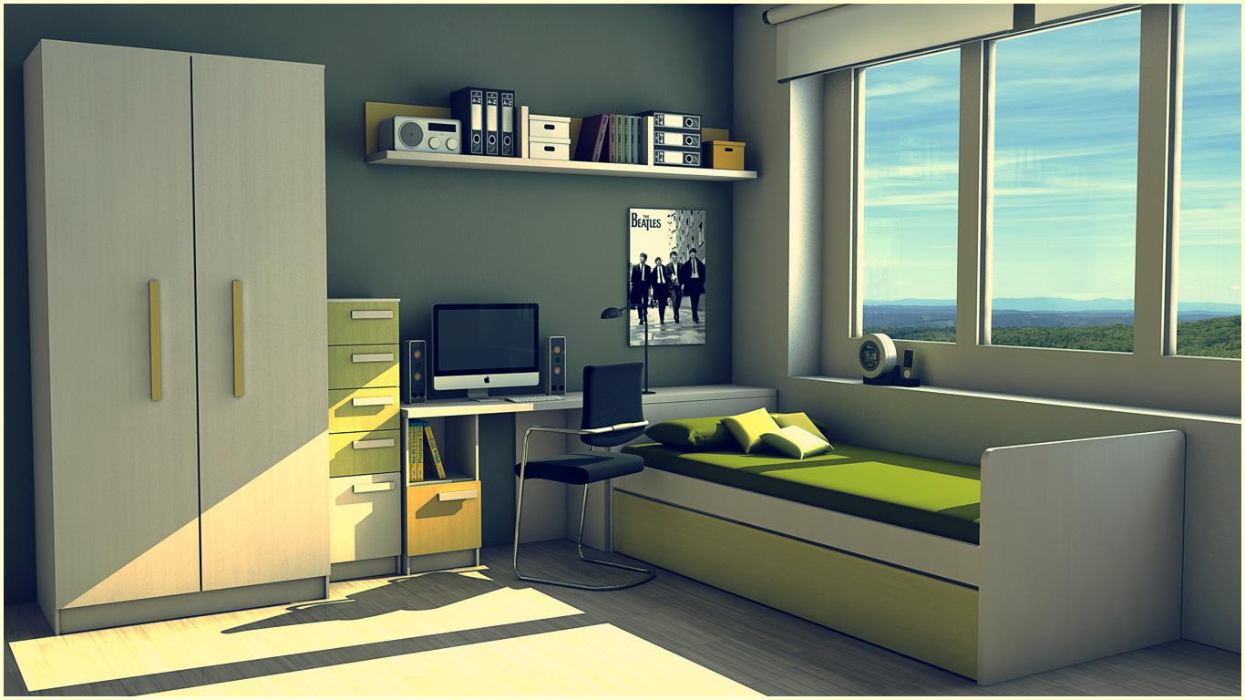 Cinema 4d mi primer render habitacion juvenil - Iluminacion habitacion juvenil ...
