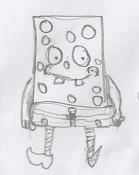 Dibujos rapidos , Bocetos  y apuntes  en papel -bob-esponga.jpg