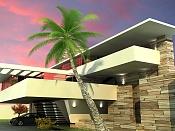 iluminacion de exteriores VraySun Y Vray Physical camera-exterior-casa-cascadas-3-atardecer.jpg