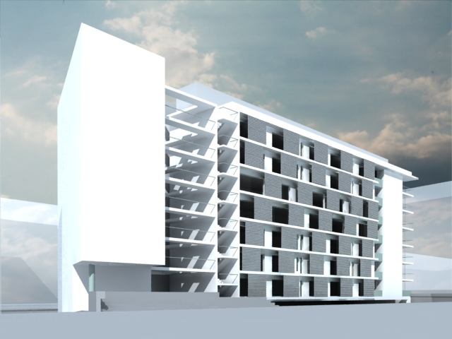 Render edificio viviendas problema reflejo vidrios - Dekton problemas ...