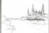 Dibujos rapidos , Bocetos  y apuntes  en papel -el-pilar1.jpg