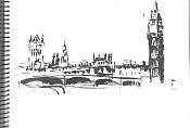 Dibujos rapidos , Bocetos  y apuntes  en papel -london.jpg