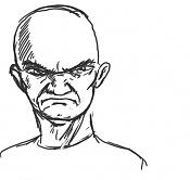 3ª actividad de Ilustracion:   Expresiones Faciales  -indignat.jpg