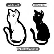 Let's Vector  Vector art Topic-white-black-cat-by-herbiecans.jpg