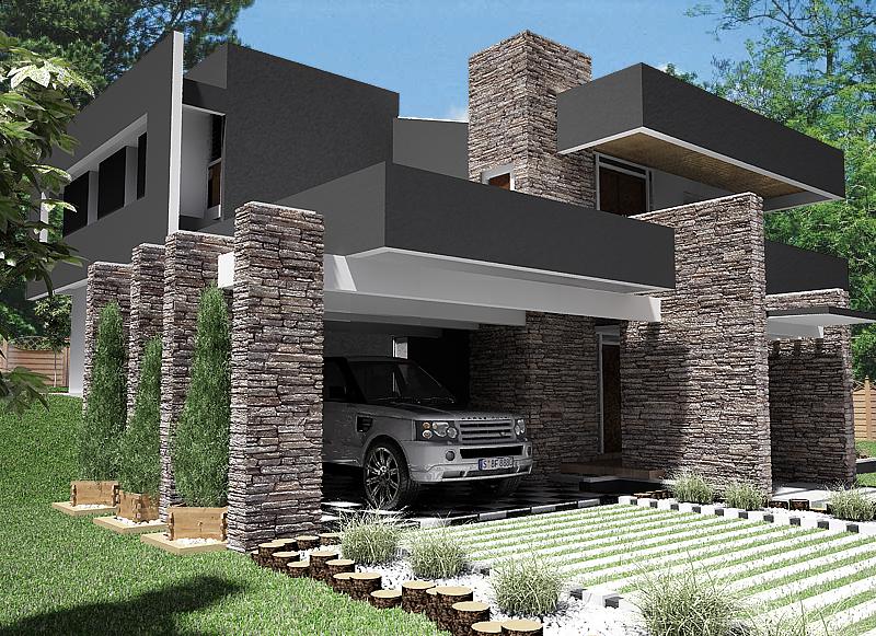 Casa exterior terminada for Fotos de casas modernas increibles