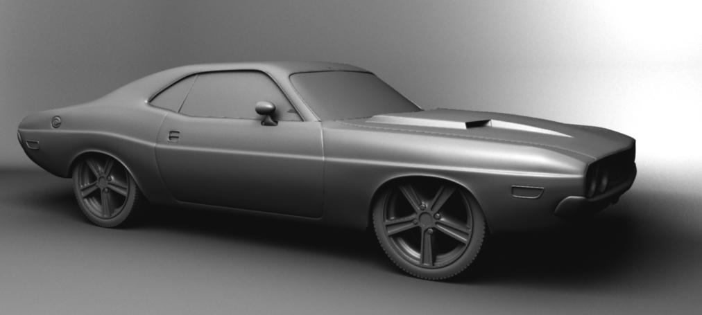 Dodge Challenger 1970 >> [Softimage XSI] Dodge challenger 1970