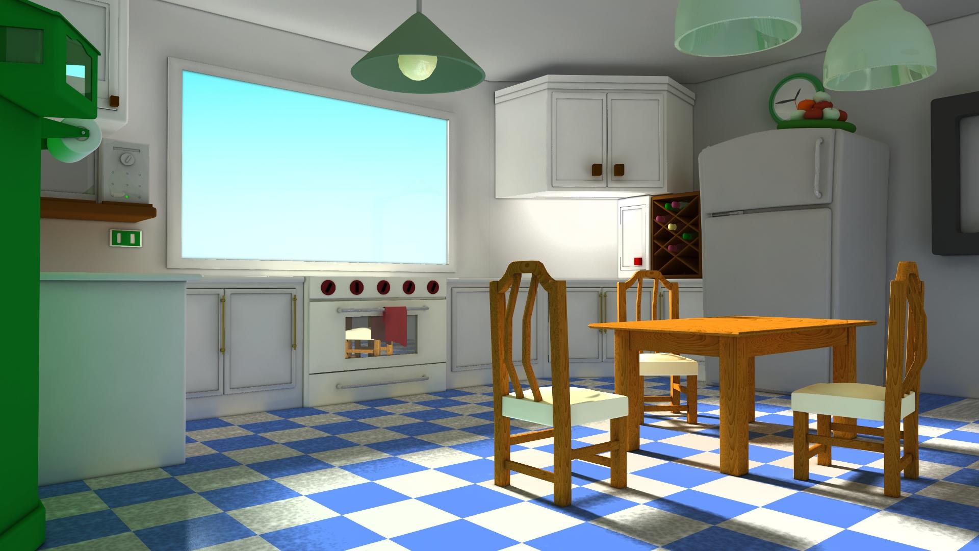 [Softimage XSI] Cocina para una animación