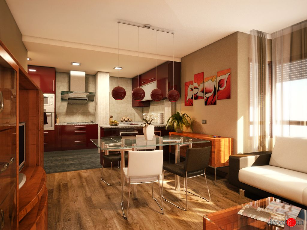 Dise o de interiores en 3d de vivienda en madrid for Diseno de interiores formacion profesional